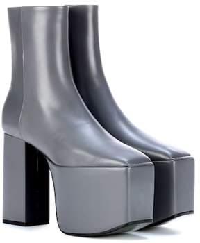 Balenciaga Plateau leather ankle boots