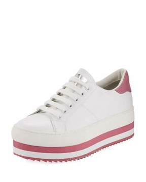 Marc Jacobs Grand Platform Smooth Leather Low-Top Sneaker