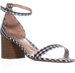 Call it SPRING Stangarone Ankle Strap Sandals, Black Plaid.