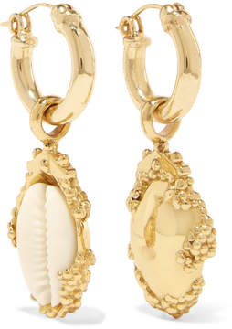 Ellery Rosalind Gold-plated, Resin And Shell Earrings