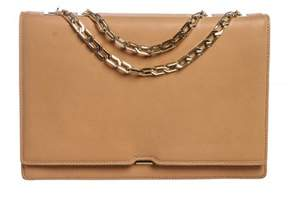 Victoria Beckham Nude Beige Hexagonal Chain Flap Bag.