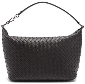 Bottega Veneta Intrecciato Leather Shoulder Bag - Womens - Black