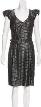 Andrew Gn Virgin Wool Metallic Dress