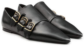 Jil Sander Leather Shoes with Triple Monk Straps