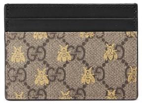 Gucci Women's Linea Bee Gg Card Case - Beige - BEIGE - STYLE