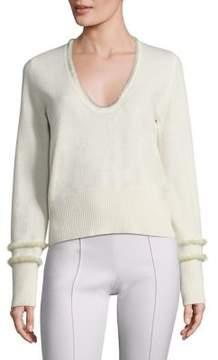 Agnona Cashmere Mink & Wool Pullover