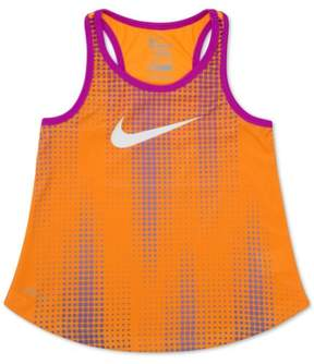Nike Girls Sublimated Swoosh Tank Top Orange 6 - Little Kids (4-7)