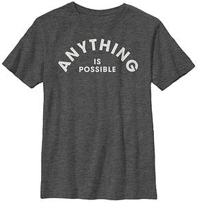 Fifth Sun Charcoal Heather 'Anything Is Possible' Crewneck Tee - Youth