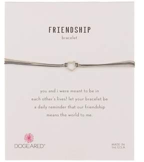Dogeared Friendship Small Open Heart Cord Bracelet