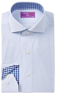 Lorenzo Uomo Grid Trim Fit Dress Shirt