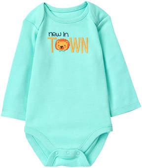 Gymboree Aqua Splash 'New in Town' Appliqué Lap Neck Bodysuit - Infant