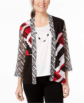 Alfred Dunner Barcelona Layered-Look Top