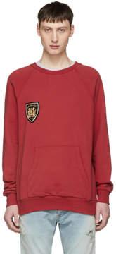 Balmain Red Dirty Badge Sweatshirt