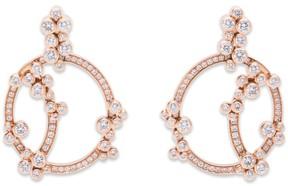 Audemars Piguet 18K Rose Gold Millenary Diamond Earrings