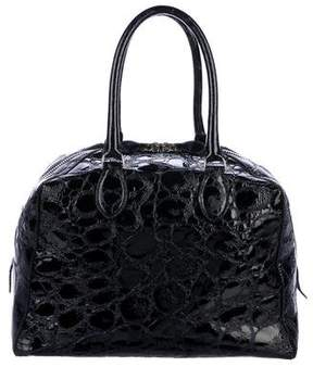 Alaia Embossed Patent Leather Handle Bag