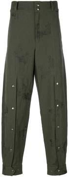 Damir Doma jacquard wide leg trousers
