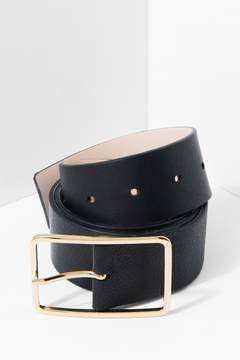 7 For All Mankind Milla Belt In Black And Gold