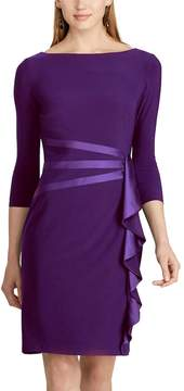 Chaps Women's Satin Trim Jersey Dress