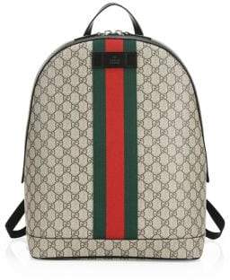 Gucci Logo Canvas Backpack