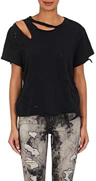 Amiri Women's Distressed Cotton Jersey T-Shirt