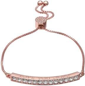 Brilliance+ Brilliance Rose Gold Tone Love You More Adjustable Bracelet with Swarovski Crystals