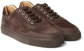 Harry's of London Mr. Jones 2 Leather-Panelled Suede Sneakers