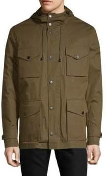 Paul & Shark Snap-Front Hooded Coat