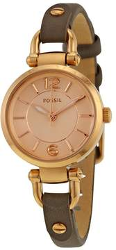 Fossil Georgia Rose Dial Grey Leather Ladies Watch