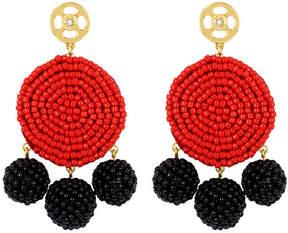 Henri Bendel Astor Circle Beaded Chandelier Earring