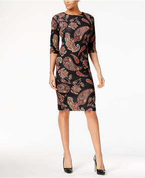 ECI Pique Paisley-Print Dress