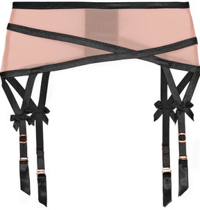 Agent Provocateur Joan Microfibre Suspender Belt - Neutral
