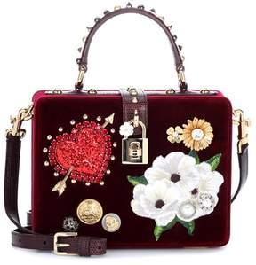 Dolce & Gabbana Dolce Box velvet shoulder bag