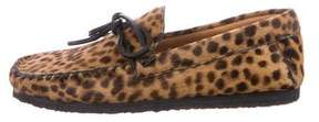 Etoile Isabel Marant Printed Pony Hair Loafers