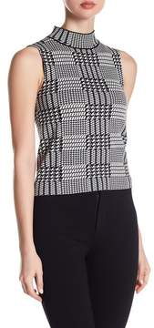 Gracia Sleeveless Houndstooth Knit Blouse