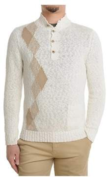 H953 Men's Beige Cotton Sweater.