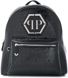 Philipp Plein skull embossed backpack