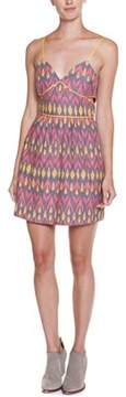 Dolce Vita Roxeann Pink Multicolor Print Bodycon Cutout Dress.
