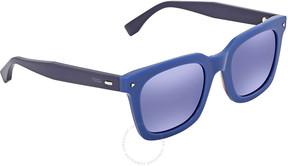 Fendi Sky Blue Mirror Square Sunglasses FF 0216/S PJP/XT