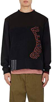 Longjourney Men's Illinois Patchwork Cotton Sweatshirt