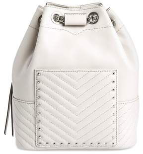 Rebecca Minkoff Becky Convertible Leather Backpack - GREY - STYLE