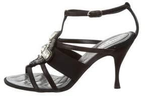 Chanel Embellished Multistrap Sandals