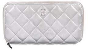 Chanel Metallic Zip Wallet