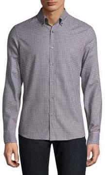 Michael Kors Checkered Casual Button-Down Shirt
