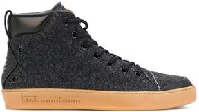 Premiata felt hi-top sneakers