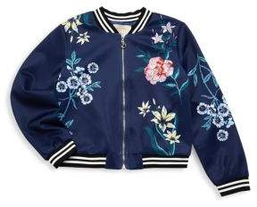 Hannah Banana Little Girl's and Girl's Floral Jacket
