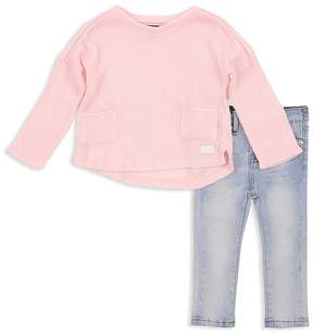 7 For All Mankind Girls' Sweater & Skinny Jeans Set - Baby
