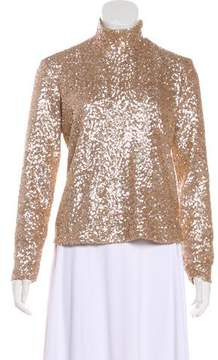 Anine Bing Sequined Long Sleeve Top