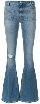 Dondup distressed effect bootcut jeans
