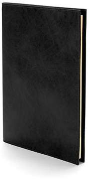 Aspinal of London Rustic A4 Refillable Leather Journal In Smooth Black