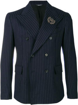 Dolce & Gabbana pinstripe double breasted suit jacket